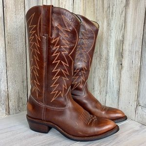 Vintage Custom Zipper Cowboy Boot